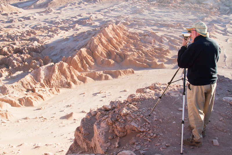 One of our guests documenting the sunset at Valle de la Luna - the Moon's Valley, Atacama Desert, Chile © Claudio F. Vidal, Far South Expeditions