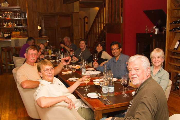 Farewell dinner enjoying the discovery of a new favorite Chilean or Argentinian wine © Claudio F. Vidal, Far South Exp