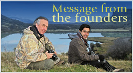 Message from the Founders Enrique Couve & Claudio F. Vidal • Far South Expeditions - www.farsouthexpeditions.com