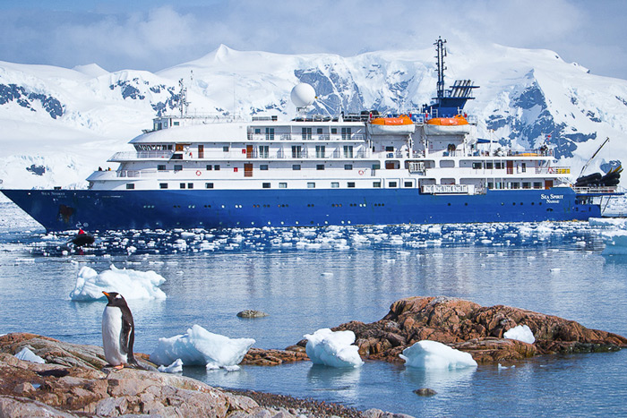 MV Sea Spirit, our base for an epic journey to South Georgia & the Falklands